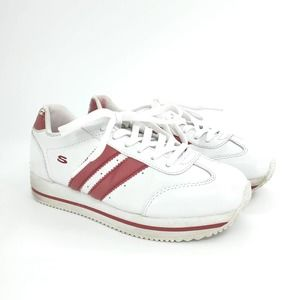 Skechers Platform Sneakers 90s Red White Striped